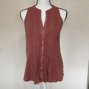 Anthro Meadow Rue Jenson Mauve Tank